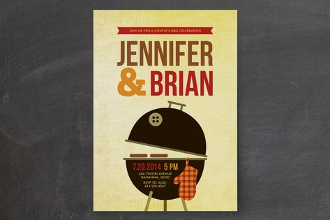 Weber Grill Engagement Party Invitations by Tami B...