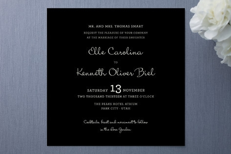 Wedding Type Wedding Invitations by Emily Ranneby
