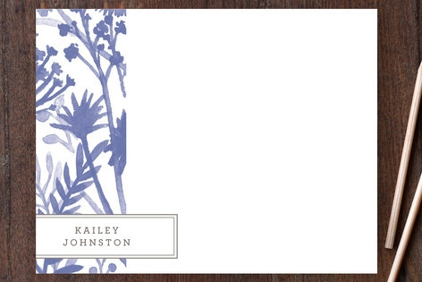 Wildflowers Personalized Stationery by j.bartyn