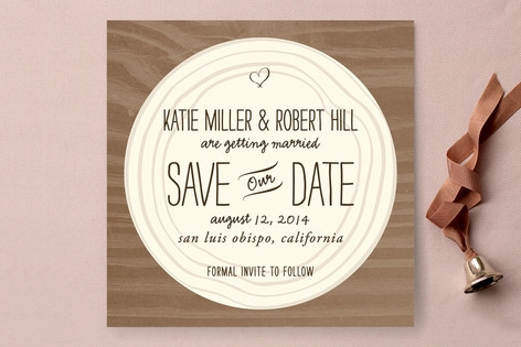 Wood Carving Save the Date Cards by SimpleTe Desig...