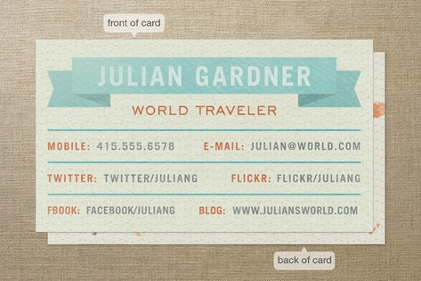 World Traveler Business Cards