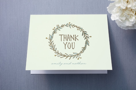 Wreath of Thanks Thank You Cards by Lisa Nelson