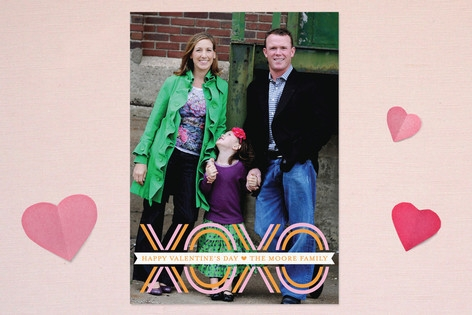 XOXO Banner Valentine's Day Cards