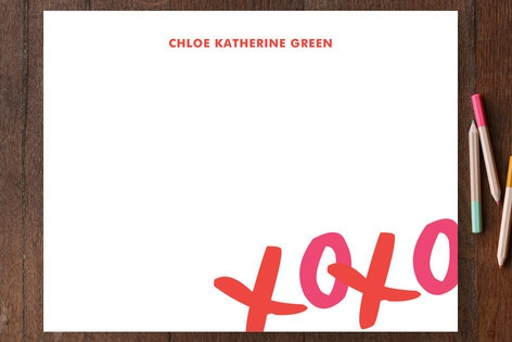 XOXO Children's Personalized Stationery