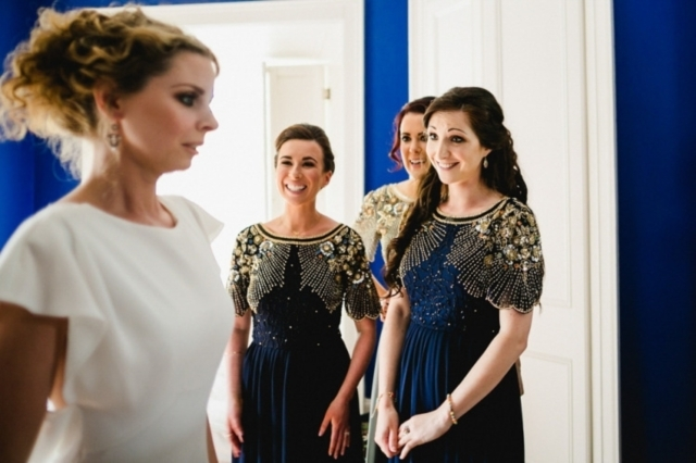 Effortless Elegance A David Fielden Gown for an Art Deco Inspired Spring Wedding in Dublin