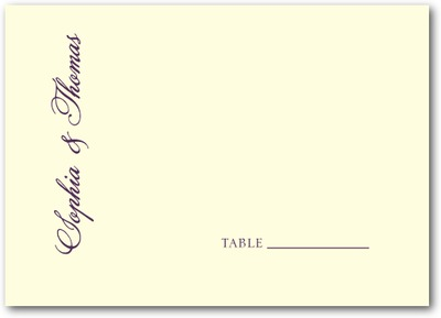 A New Direction Thermography Place Cards TH Plum