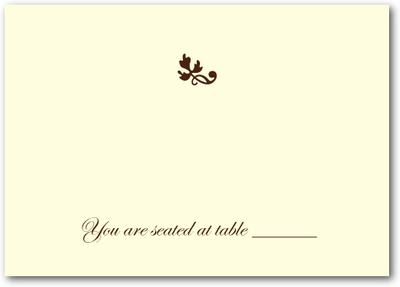Bountiful Bunch Thermography Place Cards Brown