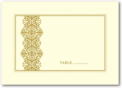Royal Monogram Thermography Place Cards TH Gold