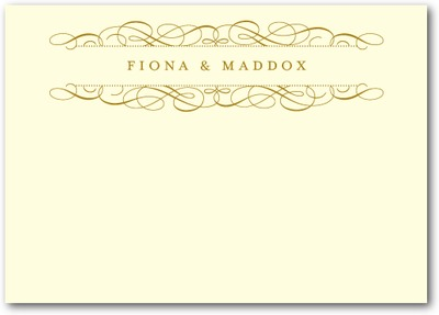 Fine Flourish Thermography Place Cards TH Gold