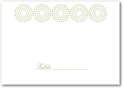 Pure Glamour Thermography Place Cards TH Celery