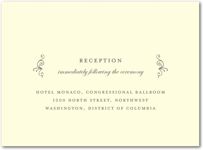 Precious Perimeter Thermography Wedding Reception Cards TH Charcoal