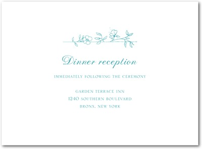 Garden Simplicity Thermography Wedding Reception Cards TH Robins Egg