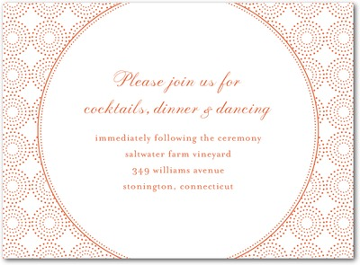 Pure Glamour Thermography Wedding Reception Cards TH Mandarin