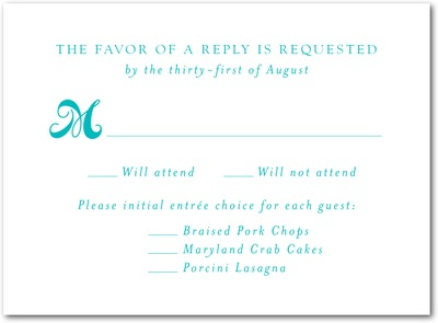 So Happy Together Letterpress Wedding Response Cards LP Turquoise