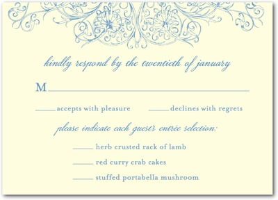 Perfect Poinsettia Signature White Wedding Response Cards Navy