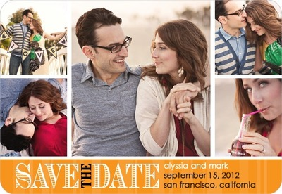 Romantic Outlook Save The Date Magnets CC Mandarin
