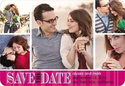 Romantic Outlook Save The Date Magnets Sassy