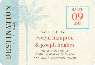 Tropical Sojourn Save The Date Magnets Aqua