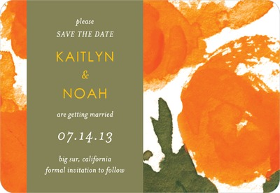 Indian Summer Save The Date Magnets Apricot