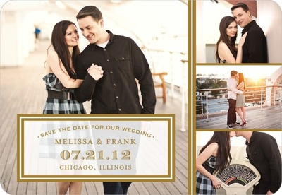 Sealed Style Save The Date Magnets Umber
