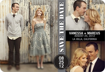 City Collage Save The Date Magnets Gunmetal