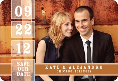 Our Date Save The Date Magnets Rust