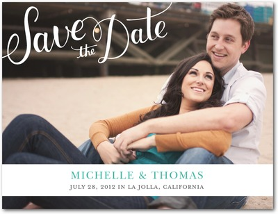 Sophisticated Hand Save The Date Postcards White