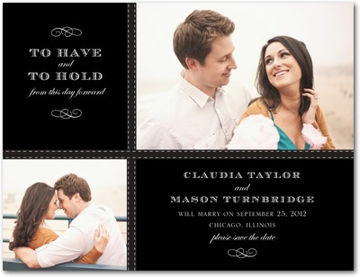 Tasteful Tailoring Save The Date Postcards Black
