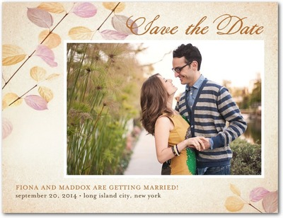 Delicate Ambiance Save The Date Postcards Dusty Rose