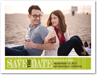 Romantic Outlook Save The Date Postcards Midori