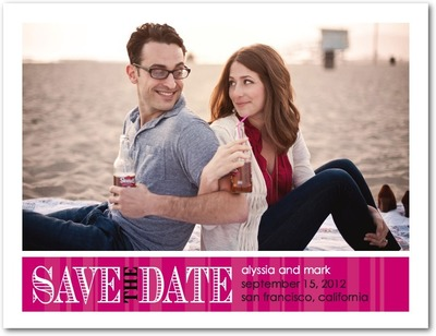 Romantic Outlook Save The Date Postcards Sassy