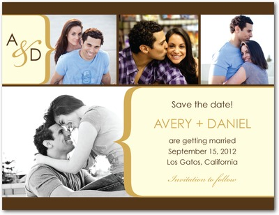 Chic Curvature Save The Date Postcards Marigold