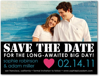 Stencil Style Save The Date Postcards Black