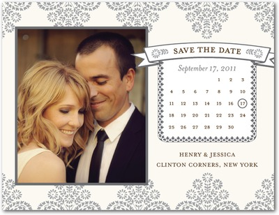 Rustic Floral Save The Date Postcards Gunmetal