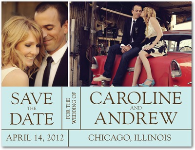 Headline Act Save The Date Postcards Lightest Turquoise