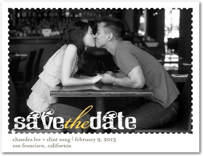 Dreamy Day Save The Date Postcards Mustard