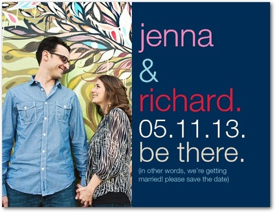 Be There Save The Date Postcards Stormy Blue