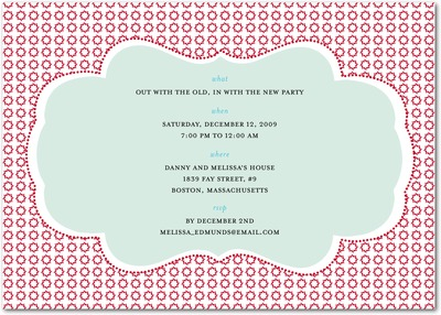 Ornate Cloud Holiday Party Invitations Winterberry