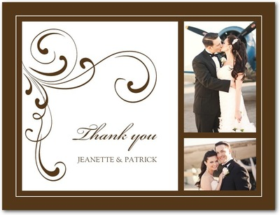 Simple Elegance Thank You Postcards Chocolate