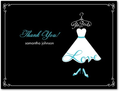Love The Bride Thank you postcards Paradise