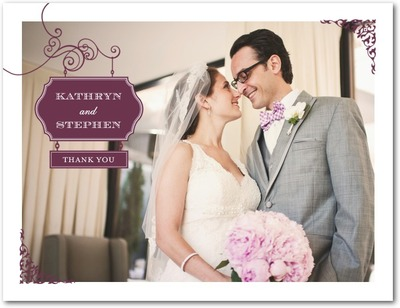 Wedding Sign Thank You Postcards Chambord
