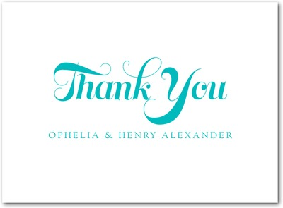 So Happy Together Letterpress Thank You Cards LP Turquoise