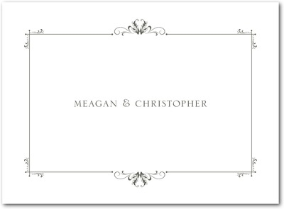 Understated Luxury Thermography Thank You Cards TH Charcoal