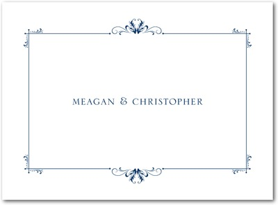 Understated Luxury Thermography Thank You Cards TH Navy