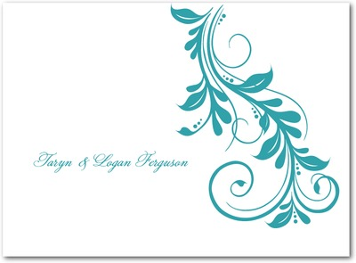 Elegant Impression Thermography Thank You Cards TH Robins Egg
