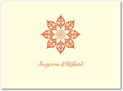 Abstract Elegance Thermography Thank You Cards TH Mandarin