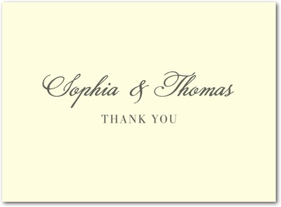 A New Direction Thermography Thank You Cards TH Charcoal