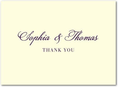 A New Direction Thermography Thank You Cards TH Plum