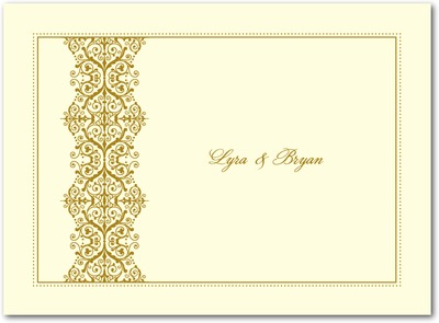 Royal Monogram Thermography Thank You Cards TH Gold