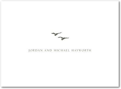Tandem Flight Thermography Thank You Cards TH Charcoal